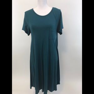 Lularoe Carly Blue Dress Size Small